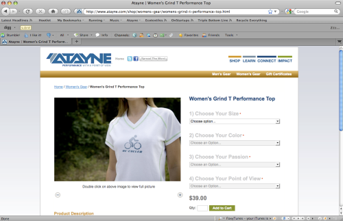 The New Atayne Web Store